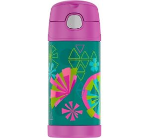 NEW Thermos FUNtainer Geometric Flowers Water Bottle  - 12 OZ