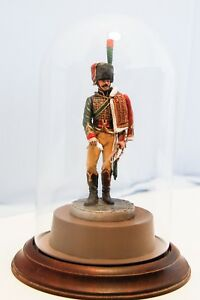 Hand Painted Metal Figure French Napoleon Lancer Cavalry Soldier Waterloo