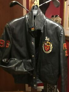 VINTAGE HIPSTER LEATHER EMBROIDERED VARSITY MOTORCYCLE UNIVERSITY JACKET CANADA