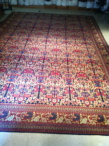 Rare Antique 1880s Oversized Persian Rug Hand Knotted - 13' x  20' Very Fine