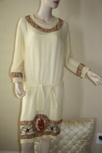 Isabel Marant silk embroidered boho dress size 1 fit many sizes due to cut