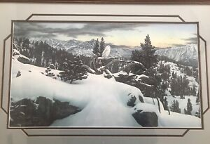 """Stephen Lyman RARE 1983 """"Early Winter in the Mountains"""" Signed Limited Ed Print"""