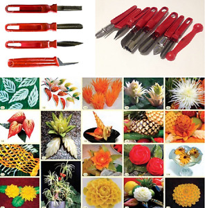Vegetable Fruit Carving Tools Knife set 4-9 pcs Art Food Stainless Steel