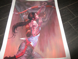 Tomb Raider Taking Aim Giclee Laura Bifano Official Giclee Lithograph #22