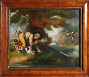 Duck Hunting Scene Oil Painting