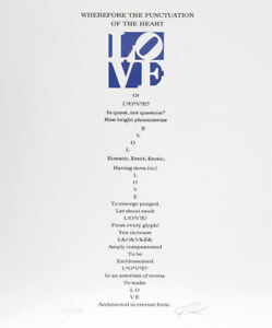 Robert Indiana, The Book of Love Poem - Wherefore the Punctuation of the Heart -
