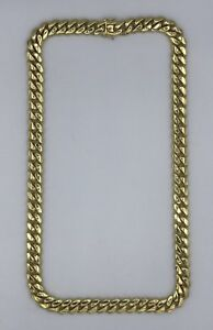 Sterling Silver 925 Yellow Gold Plated Solid Big Men's Miami Cuban Chain 8.5mm