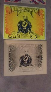2 JANIS JOPLIN ZEPPELIN CREEDENCE CHICAGO BERRY 1969 BOXING STYLE CONCERT POSTER