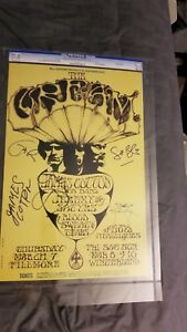 CREAM CLAPTON COTTON MOUSE BILL GRAHAM  AUTOGRAPHED GCG CERTIFIED CONCERT POSTER