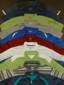 LOT 10 NIKE TOUR PERFORMANCE DRI-FIT FIT-DRY POLY SS POLO SHIRTS SZ. 2XL
