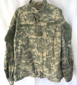 Military Issue Regular Large Army Combat Uniform Coat Summer Zipper Front Camo