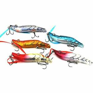 Shrimp Lures Bait Kit Saltwater With Tackle Box For Bass Pike Fishing (5 PCS