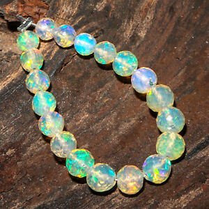 AAA Ethiopian Welo Opal Stone Beaded Faceted Rounds Mini Strand 3-4mm
