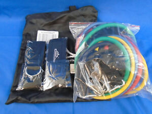 Resistance Band Set Fitness Exercise Tool Door Anchor Ankle Strap Multicolor New