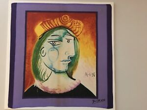 Picasso Lithograph Dated and Signed 1938 Woman with Beret Unframed 17 34X 18