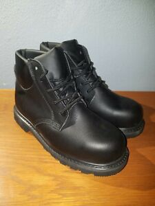 Victory Supply Mens Black Steel Toe Work Boots Size 8