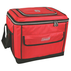 Boat Marine Beach Auto Camping Coleman 40 Can Collapsible Cooler Red