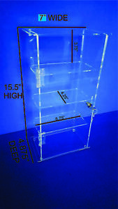 Acrylic Countertop Display Case Locking Security Case (REMOVABLE SHELVES)
