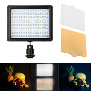 Andoer 160 LED Video Light Panel 10.5W 1280LM Dimmable for Canon Nikon