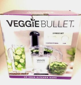 New Veggie Bullet Custom Fit Bowl Set 2 Piece Bowl and Lid New In Box