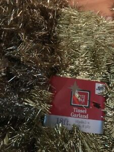Vintage Tinsel Garland GOLD 50 Feet Christmas