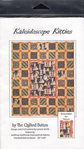 KALEIDOSCOPE KITTIES QUILT THE QUILTED BUTTON QUILTING PATTERN HALLOWEEN CATS