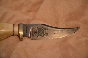 Damascus USA quot;HOGquot; Harley Owners Group 10th Anniversary knife hand carved antle