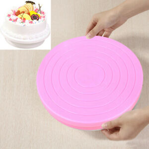 Baking Rotating Tool Revolving Cake Plate Decor Turntable Kitchen Display Stand