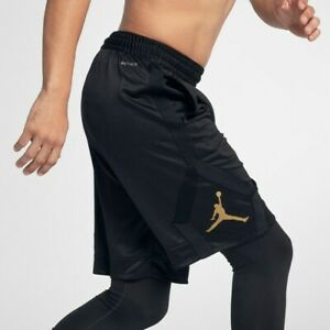 Nike Air Jordan Rise Diamond Dri-Fit Basketball Shorts BlackGold Men's 4XL BNWT