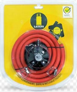 LAUGFS Gas LPG Propane Safety Regulator & 1 M Hose Kit For Gas BBQ Cooker Patio