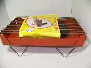 Vintage NOS Porta-Grill Charcoal Grill Portable Barbecue BBQ complete Charcoal