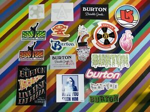 vtg 1990s 2000s Burton snowboards sticker - Pizza Shaun White Durable Goods +