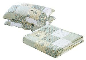 All American Collection New Reversible Floral Printed Patchwork Bedspread Quilt