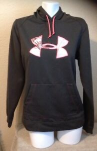 UNDER ARMOUR Ladies Hoodie Camo Logo Green Pink Size M Excellent Condition