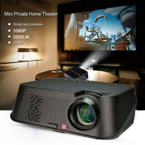 Multimedia 3500 Lumens 5.8'' Video Projector LCD 1080P Full-HD LED Portable Home