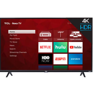 TCL 50S425 50-Inch Roku 4K Ultra HD LED Wi-Fi Smart TV (2019) with Remote