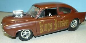 1 18 CUSTOM MADE Henry J Pro Street with a blown Chevy engine brown