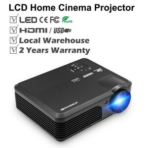 LED LCD Home Theater Projector Multimedia Backyard HD 1080p Video HDMI Movie USB