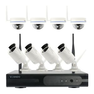 Home Surveillance Wireless CCTV Security System Dome Bullet Camera w/ 1TB HDD US