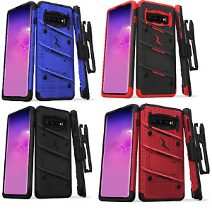 Samsung Galaxy S10+PLUS ZIZO BOLT Case with rotatable holster clip and KickStand