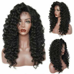 1pc Fashion Human Hair Wig Wave Short Kinky Curly Wig Black Curly Wig for Women