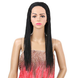 1 Pc Pigtail Hair Wig Fashion Natural Black Exquisite Braided Hair Wig for Women