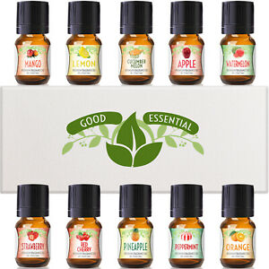 Fruity Fruits Good Essential Fragrance Oil Set Strawberry, Apple, Peppermint