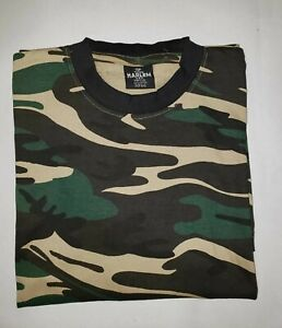 LOT OF 2 Camouflage T SHIRTS 100% cotton made by HARLEM