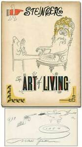 Saul STEINBERG  The Art of Living Signed 1st Edition 1949