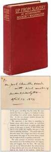 Booker T WASHINGTON / Up from Slavery An Autobiography Signed 1st Edition 1901