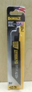DEWALT 5-Pack 6-in 14/18-TPI Metal Cutting Reciprocating Saw Blade- BRAND NEW!