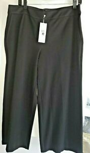 EILEEN FISHER Women Wide Leg Cropped Trouser Pants Milano Viscose Knit size M