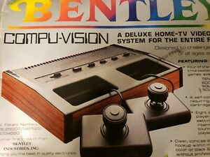 Vintage Bentley Compu-Vision Deluxe Home-TV Video Game Computer System UNTESTED