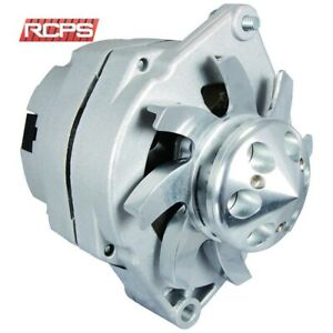 NEW BBC SBC CHEVY ALTERNATOR 110 AMP HO ONE WIRE BILLET FAN PULLEY